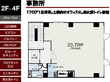2階~4階間取り